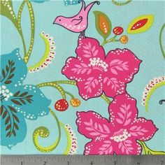 Songbird Jewel Fabric is - wide and cotton. Average bolt size is approximately 9 yards. Price displayed is for Enter the total number of yards you want to order. Fabric Birds, Pink Fabric, Floral Fabric, Fabric Shop, Cotton Fabric, Baby Fabric, Fabric Sewing, Quilting Fabric, Hobby Lobby Fabric