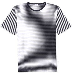 Sunspel Striped Cotton-Jersey T-Shirt