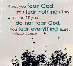 Oswald Chambers on the fear of the Lord
