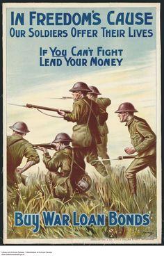 Canadian First World War poster.