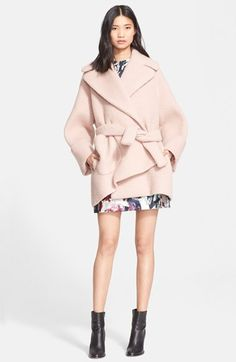 Free shipping and returns on Carven Oversize Cocoon Coat at Nordstrom.com. A precious pink hue sweetens this oversized cocoon coat that offers cozy comfort in a plush, midweight wool blend.