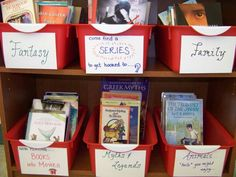 Middle School Classroom Library ideas