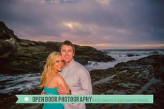 opendoorweddings.com Open Door Photography by JUSTIN JACOBS AND CLAY HADICK Central Coast Beach Trees Sunset Montana De Or Cloudy Skies Ocean Engagement Shoot Couple