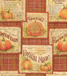 Autumn Inspirations Pumpkin Farm Fabric at Joann.com