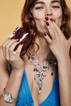 Glamour Italia- Cakes and Jewelry Beauty Editorial with model Mathilde Brandi | NEW YORK FASHION BEAUTY PHOTOGRAPHER- EDITORIAL COMMERCIAL ADVERTISING PHOTOGRAPHY