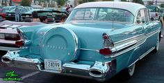 old+blue+car+drawing | Photo of a blue 1957 Pontiac 2 Door Hardtop Coupe at the Scottsdale ...