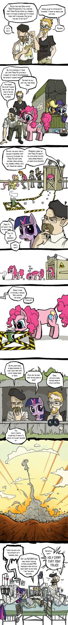 Ok, I have a pretty strong distaste for MLP:FIM, but this had me cracking up! Mythbusters Investigate My Little Ponies.