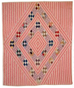 Old quilt, maker unknown. Pink Quilts, Old Quilts, Strip Quilts, Antique Quilts, Patch Quilt, Scrappy Quilts, Vintage Quilts, Quilt Blocks, Plaid Quilt