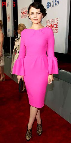 Hot pink Roksanda Ilincic with bell sleeves!  Are you kidding me!  I WANT this dress.  Amazing!