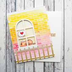 My Favorite Things I Knead You. Love the Small Brick background stamp from MFT