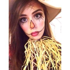 Scarecrow facepaint for Halloween