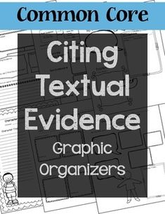 CCSS Aligned - For ANY Informational or Fiction TextI designed this to be used by content area teachers working to meet the nonfiction and fiction demands of the Common Core Standards.- 5 Non-fiction graphic organizers - making claims and supporting with evidence - answers questions using evidence- 2 Character Traits evidence graphic organizers- Problem/Solution graphic organizerTHANK YOU!More Common Core Resources:Text Dependent Questions and Reading Response Task Cards for Close Readin...