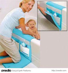 Bebeğini yıkayan annelerin dizlerini düşünürken bir taraftan da saklama alanlarıyla gerekli malzemeleri elinizin altında tutan bir mat