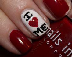 Anti-Valentines Day Nails