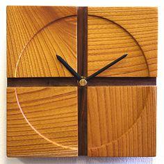 Natural Wood Clocks   Natural wood クラフトク rock 'cross', made in Japan