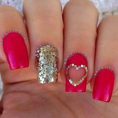 12 Super Cute Valentine's Day Nail Designs - Nail Art HQ