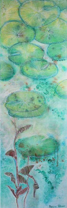 """Saatchi Art Artist Sandrine Pelissier; Painting, """"Naiades 3"""" #art"""