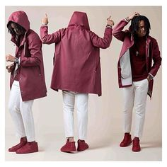 Let us lift your Monday spirits with some rubberized cotton and movement in combination. Hope it helps.. @adapperchick does indeed look very dapper in Stockholm Burgundy, no matter what your mood may be.