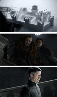 Game of Thrones: 'Mockingbird', Petyr Baelish, Lysa Arryn and Sansa Stark. (by myrandar)