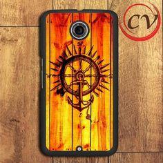 Anchor Compass Wood Nexus 5,Nexus 6,Nexus 7 Case