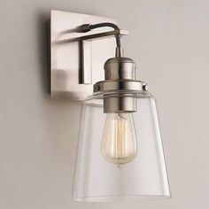 clear glass brushed sconce - Google Search