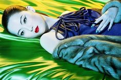 Bid now on Colour Story (Chinese Vogue) by Miles Aldridge. View a wide Variety of artworks by Miles Aldridge, now available for sale on artnet Auctions. Popular Photography, High Fashion Photography, Glamour Photography, Lifestyle Photography, Editorial Photography, Design Blog, Deco Design, Magazine Design, Green Fashion