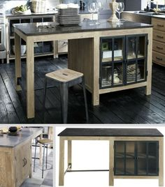 Discover recipes, home ideas, style inspiration and other ideas to try. Central Table, Ikea Furniture Hacks, Industrial Interiors, Modern Kitchen Design, Living Room Modern, Kitchen Remodel, Kitchen Reno, Kitchen Ideas, Home Remodeling