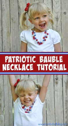 OH MY CUTENESS!!  I must make this patriotic toddler jewelry!