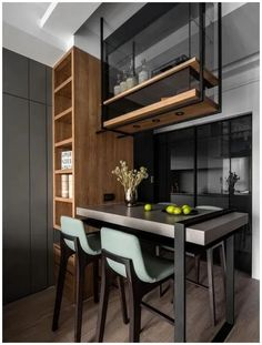 surprising small kitchen design ideas and decor you have to see page 23 Small Kitchen Bar, Kitchen Bar Design, Loft Kitchen, Best Kitchen Designs, Kitchen Sets, Home Decor Kitchen, Interior Design Kitchen, Kitchen Furniture, Kitchen Trends