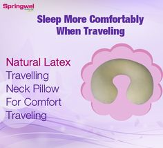 Buy #Travel #Neck #Pillow - Low Rate, Free Shipping. Order Now! it contours to your neck and shoulders comfortably when you are traveling. http://www.springwel.in/latex-pillow/86-latex-travel-neck-pillow.html