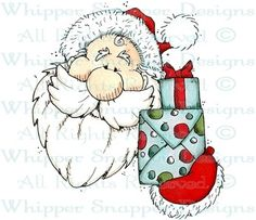 Gifts From Santa - Christmas Images - Christmas - Rubber Stamps - Shop