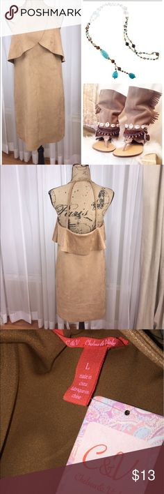 Perfect summertime festival dress NWT Chelsea & Violet suede like dress. Lightweight and perfect for layering. Versatile dress can be accessorized to create multiple looks. Chelsea & Violet Dresses