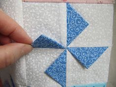 Prairie Point Pinwheel-no tutorial or instructions.  Use this to remind myself I know how to do this block....just need to make it!