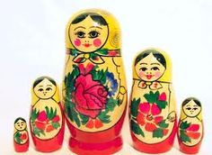 Russian Nesting Dolls:  I've wanted a set since I was a small girl.  I think I'll buy myself a set this year.