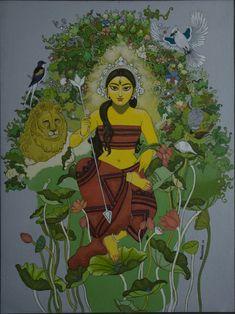 Durga with nature