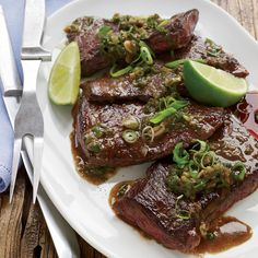 Pan-Seared Skirt Steak with Anchovies and Lime Recipe - Jacques Pépin | Food & Wine