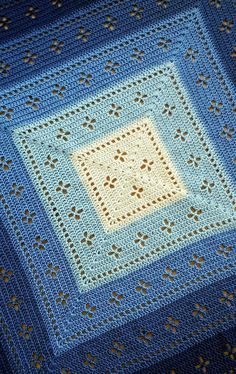Vintage Crochet Patterns, Crochet Square Patterns, Crochet Blanket Patterns, Baby Blanket Crochet, Crochet Stitches, Knitting Patterns, Crochet Borders, Stitch Patterns, Cross Stitches