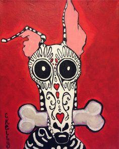 Greyhound de la Murte print 8x10 by Courtsart on Etsy, $20.00