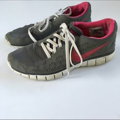 Nikes Grey and Pink Nikes Grey and Pink color way size women's 9 worn condition lots of life left Nike Shoes Athletic Shoes