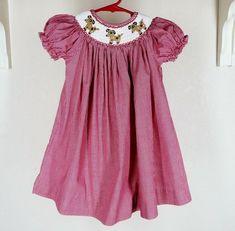 430ca7f5924 Royal Child Smocked Bishop Dress Sz 24m 24 Mo 2 Puppy Dog Red Gingham   RoyalChild