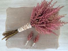 Rose-colored astilbe, bouquet and boutonnieres Bouquet Astilbe, Peach Bouquet, Bridal Flowers, Flower Bouquet Wedding, Floral Wedding, Boho Wedding, Rose Boutonniere, Boutonnieres, Bride Bouquets