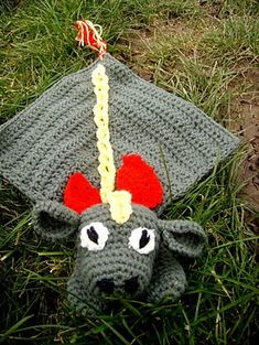 "Idris the Dragon Lovey / Comforter - Free Amigurumi Crochet Pattern - PDF Format - Click ""download"" here: http://www.ravelry.com/patterns/library/idris-the-dragon-lovey---comforter"