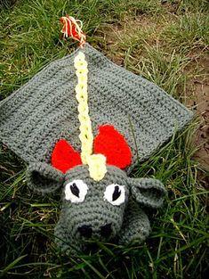 "Idris the Dragon Lovey / Comforter - Free Amigurumi Crochet Pattern - PDF Format - Click ""download"" here: http://www.ravelry.com/patterns/library/idris-the-dragon-lovey---comforter"