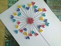 Quilling Paper Tutorial - DIY Paper Quilling Love Card. Quilling Wall de...