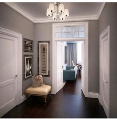 90 best designing a living room with dark wood floor 41 Interior Design Living Room, Living Room Designs, Warren House, Small Hallways, Dark Wood Floors, Floor Colors, Paint Colors For Home, Hallway Decorating, Mansions
