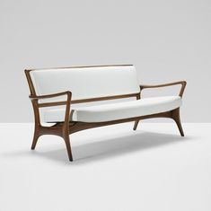 Vladimir Kagan; Walnut Sofa for Kagan-Dreyfuss, c1950.