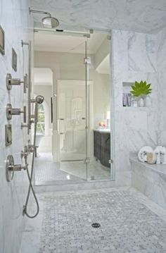 walk-in shower - that bench could be a tub... by gayle