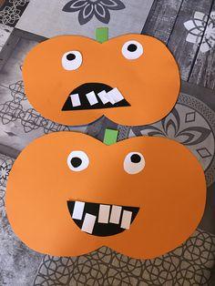 [ Activité enfant ] Paper pumpkins - A baby changes your life - Halloween Tags, Theme Halloween, Halloween 2018, Halloween Pumpkins, Happy Halloween, Halloween Decorations, Halloween Prop, Halloween Witches, Halloween Crafts For Kids