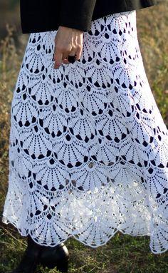 White Fields Crochet Skirt