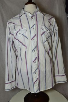#Wrangler #WESTERN #PearlSnap #Cowboy #Rockabilly #Shirt for #auction #cheap in my ebay store